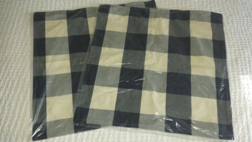 Buy Cheap 2 Pottery Barn Buffalo Check Plaid Pillow Covers