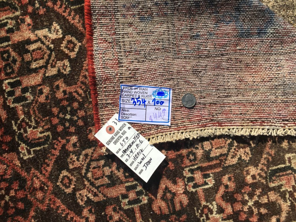 Buy Cheap 3 215 12 Persian Runner Rug Wool Hand Knotted Iran