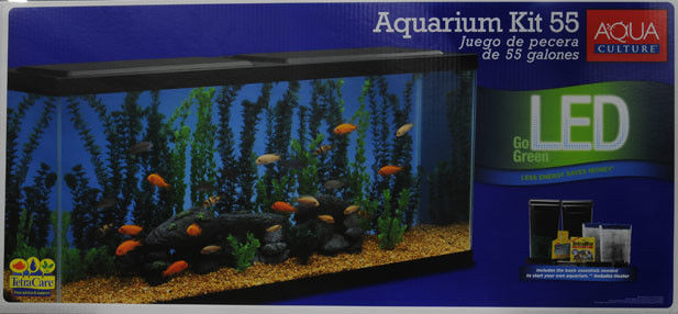 Aqua culture aquarium starter kit 55 gallon kath store for 55 gallon fish tank starter kit