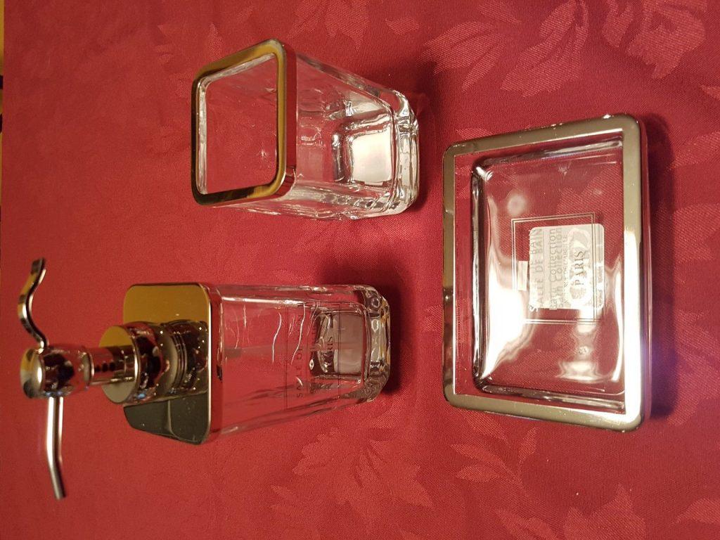 Buy Cheap Bella Lux Crystal Glass Bathroom Set Hotel
