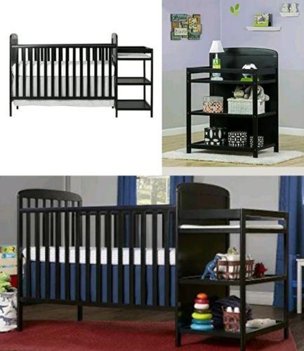 Buy Cheap Black Baby Crib Nursery Furniture Changing Table