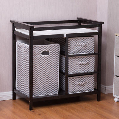Buy Cheap Black Infant Baby Changing Table W 3 Basket