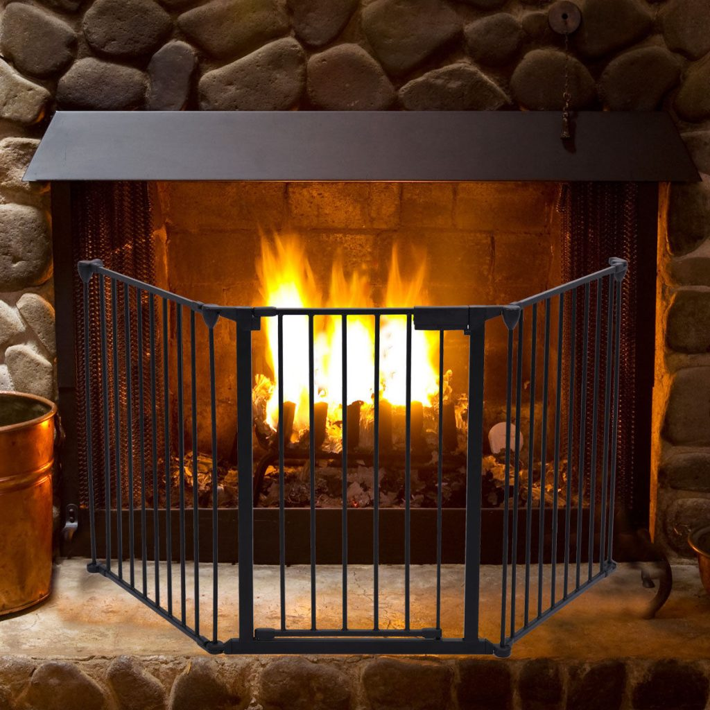 Fireplace Fence Baby Safety Fence Hearth Gate Bbq Metal